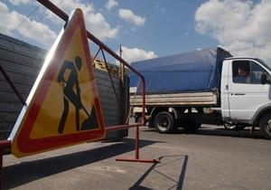 На проспекте Победы в Киеве до 20 мая ограничено движение транспорта