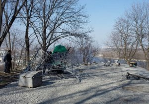 На Владимирской горке в Киеве демонтировали Кокоревскую беседку