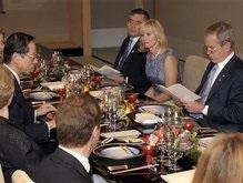 Медведев доволен едой на саммите G8