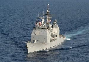 Американский крейсер столкнулся с атомной подводной лодкой