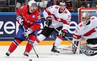 ЧМ по хоккею: Норвегия в овертайме вырвала победу над Швейцарией