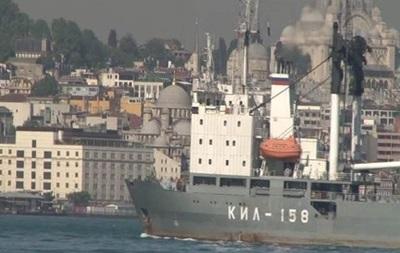 В Турции на борту российского судна увидели танки