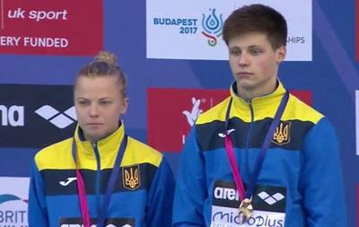 Юлия Прокопчук и Максим Долгов стали чемпионами Европы в прыжках в воду