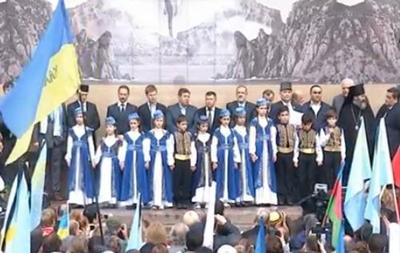 Митинг татар в Киеве: видео