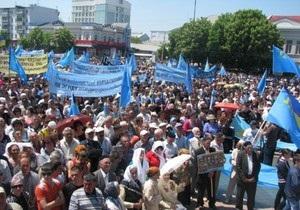 В Симферополе проходит митинг 15 тысяч крымских татар