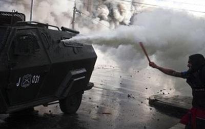 В Чили разогнали демонстрантов водометами и газом
