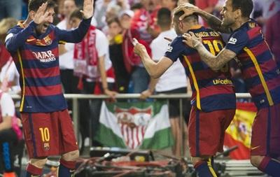 Барселона в дополнительное время обыграла Севилью в финале Кубка Испании