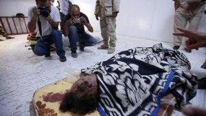 Медики провели вскрытие тела Каддафи, отдавать тело семье ПНС не планирует