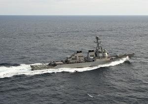 В Персидском заливе столкнулись американский эсминец и японский танкер