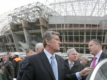 Ющенко нравится, как страна готовится к Евро-2012