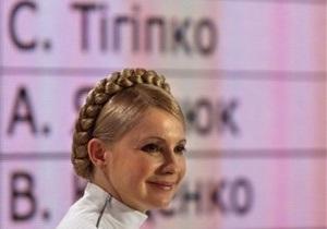 Тимошенко не будет снимать свою кандидатуру в пользу Тигипко