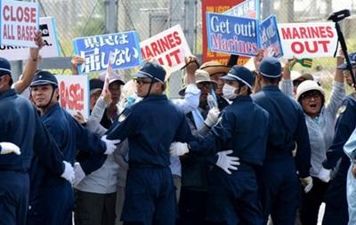 В Японии протестуют против военной базы США