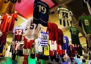 В Киеве открылась самая большая в Европе выставка футболок лучших футболистов планеты