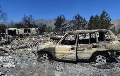 В центральной Калифорнии мощный лесной пожар