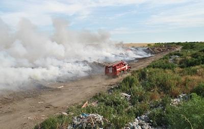 На свалке под Николаевом произошел пожар