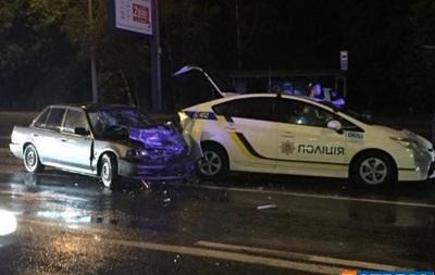 В Киеве произошло тройное ДТП с участием полиции