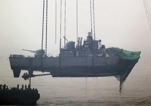 В корме затонувшего южнокорейского корабля обнаружили тела 32 моряков