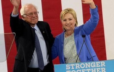 США: Сандерс призвал всех демократов поддержать Клинтон