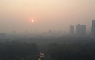 Киевщину накрыла дымка из-за жары