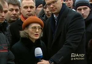 Янукович разволновался после включения с киевского Майдана
