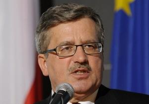 Коморовский заявил, что дело Тимошенко - препятствие для вступления Украины в ЕС