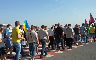 Львовские шахтеры перекрыли международную трассу