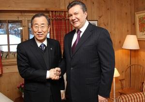 Янукович обсудил с генсеком ООН вопросы ядерной и продовольственной безопасности