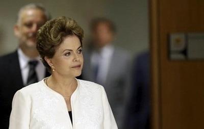Президент Бразилии призвала остановить процесс импичмента