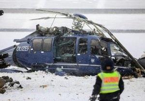 Столкновение полицейских вертолетов над Берлином: погиб один из пилотов