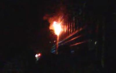 Во Львовской области загорелся поезд с пассажирами