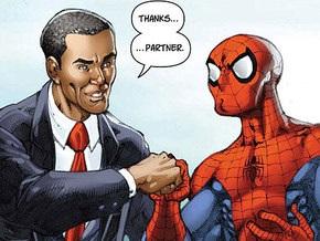 Человек-паук спасет Барака Обаму от самозванца