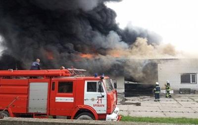 Пожар в Броварах под Киевом потушили
