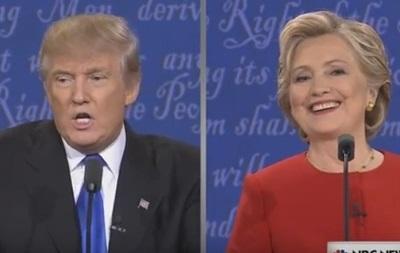 Клинтон опережает Трампа попопулярности после первых теледебатов