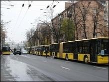 Киев хочет устроить отдельные полосы движения для общественного транспорта