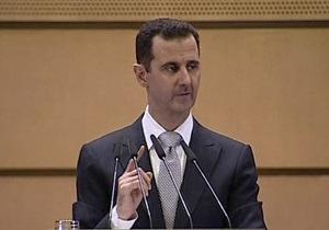 Асад обвинил иностранные государства в разжигании конфликта в Сирии