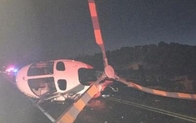 В США п пьяный протаранил вертолет машиной