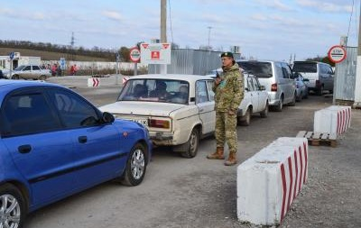 Обстрел КПП Майорск в Донецкой области