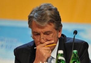 Ющенко ответил журналистам: Вы, кроме вокзала, нигде аккредитованы не будете