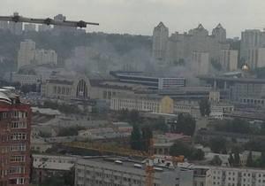 Возле Южного вокзала в Киеве произошел пожар