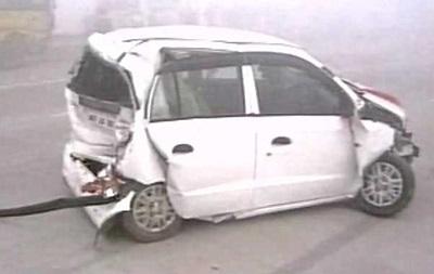 Более 20 авто столкнулись в Дели из-за смога