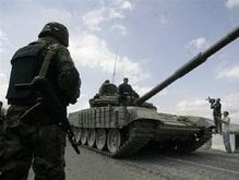 Российские танки занимают окраину Цхинвали