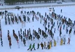 Жители Кемерово посвятили кузбасскому йети Gangnam Style