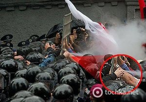 В милиции отрицают применение слезоточивого газа против митингующих под Радой