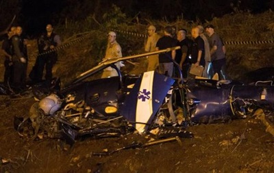 В Рио-де-Жанейро разбился полицейский вертолет, четверо погибших