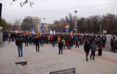 В Кишиневе снова протестовали из-за выборов