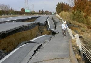 В Японии разбитую землетрясением дорогу отремонтировали за шесть дней