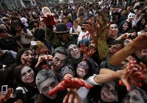 В столице Мексики состоялся Марш зомби