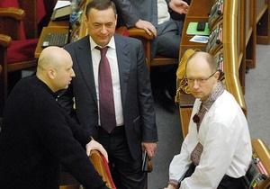 СМИ: Только 8% соратников Яценюка перешли из Фронту Змін в Батьківщину