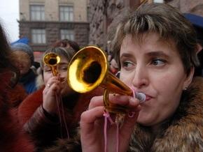 Около 150 человек проводят митинг под зданием Киевсовета