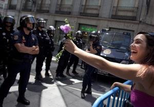 В Мадриде произошли столкновения демонстрантов с полицией: около 20 пострадавших